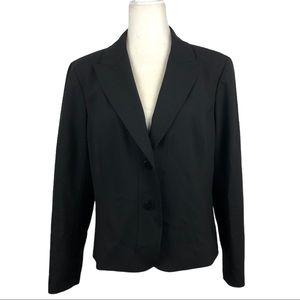 Lafayette 148 Black Petite Wool Blazer Jacket  14